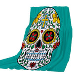 Thicking Blanket For Bed Super Soft Flowers   Skull Halloween Throw Blanket Art Beach Towel Throw Travel Machine Washable CB71