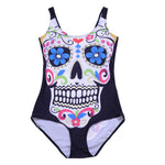 Top saleing Beach Swimwear Skull Printing Digital Backless Swimwear