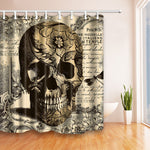 Waterproof  Polyester Shower Curtain Bathroom Curtain with Hooks Skull Unicorn Home Decor Bathroom Accessory 180*180cm 1PC