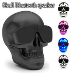 Wireless Sunglass Skull Bluetooth Speaker bass Halloween Cartoon Gift Mini Skull head Shape  Portable for iphone computer