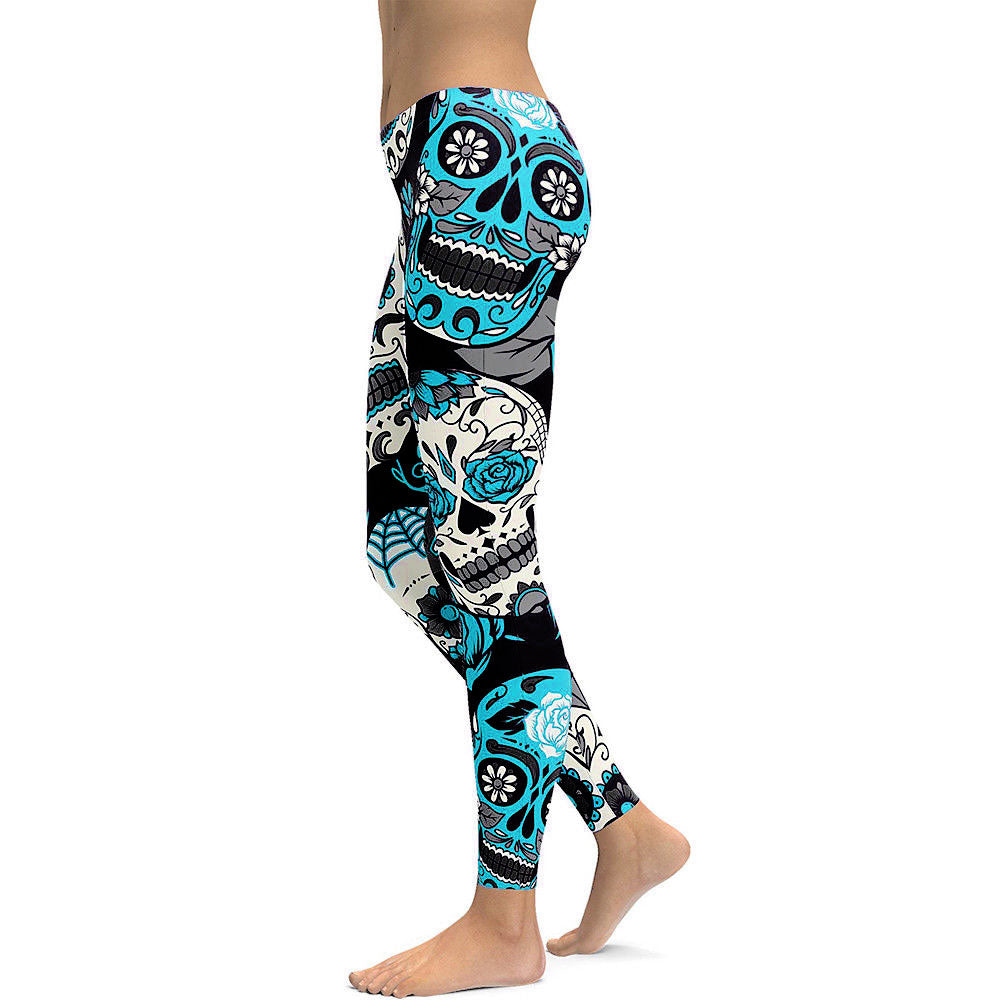 Sugar Skull Women Leggings Sugar 3D Printed Leggings