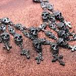 Gorgeous Fashion Necklace Skeleton skull Cross Jewelry crystal Department Statement Women Choker Necklaces Pendants