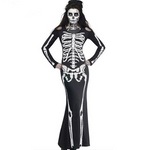 Skeleton Dress Adult Scary Skull