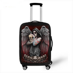 Death Angel Skull / Grim Reaper Luggage Protective Covers Elastic Travel Accessories Trolley Suitcase Dust Cover For 18-28 inch
