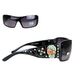 Montana West Sugar Skull Collection Sunglasses Black/Multicol