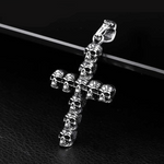 Steel soldier men punk cross skull gather pendant necklace stainless steel steel men jewelry