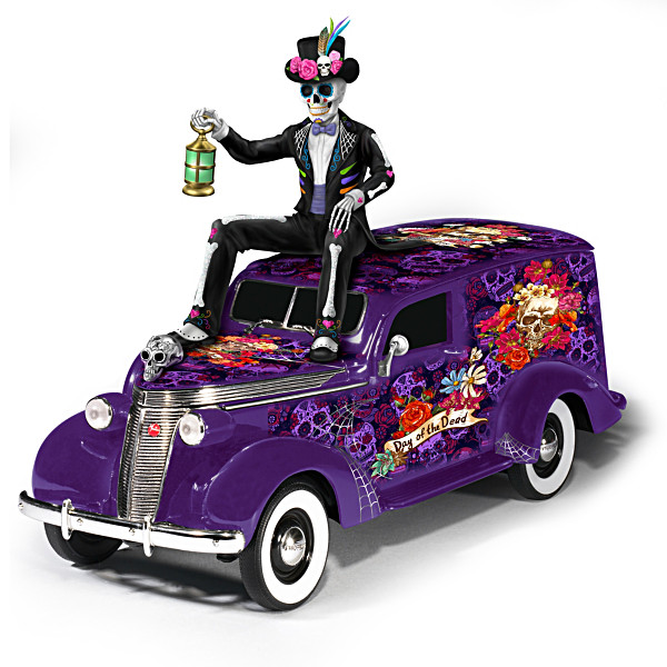 Sugar Skull Hearse Sculpture By Blake Jensen