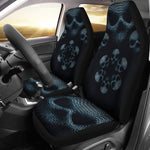 Set of 2 Skull Face Car Seat Cover