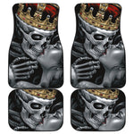Set 4 pcs king kiss skull car mats