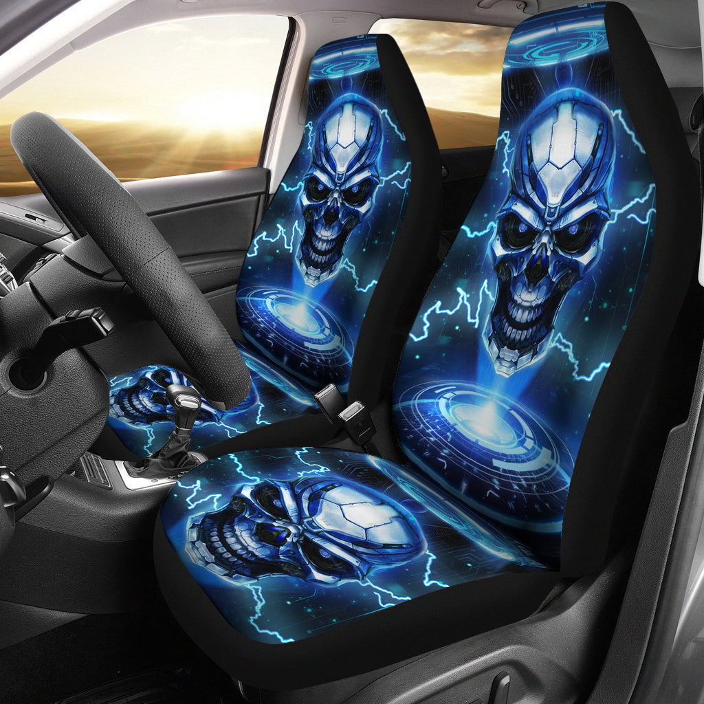 Awesome skull car seat cover