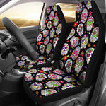 Set 2 seat cover sugar skulls
