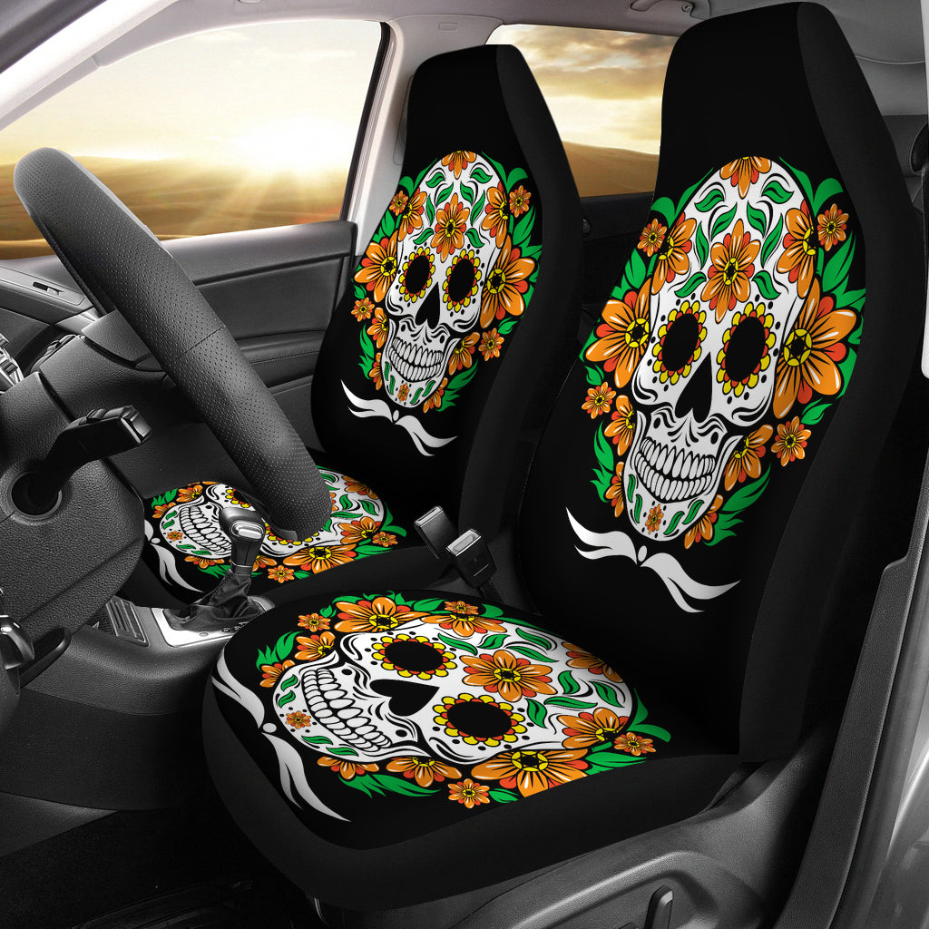 Sugar Skull - Day Of The Dead - Car Seat Cover