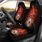 Set 2 pcs Gothic skull play drum car seat covers