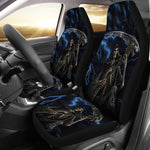 Set of 2 Grim reaper awesome skull car seat covers