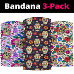 Set of 3pcs sugar skull bandana