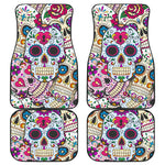 Sugar skull car seat covers & mats