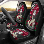 Set of 2 sugar skull car seat covers