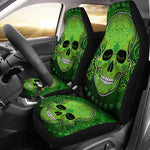 Set 2 pcs St patrick day skull car seat covers