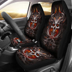Burning skull - Seat covers for car