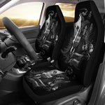 Set 2 pcs skull grim reaper car seat cover sugar skulls