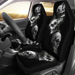 Set of 2 Car seat cover - burning skulls