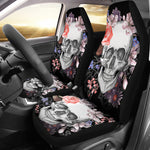 Set 2 pcs Floral gothic sugar skull car seat covers