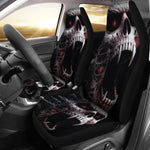 Set 2 skull car seat covers
