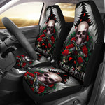 Set 2 Rose skull seat covers