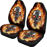 Set of 2 - Burning skulls - Awesome car seat covers