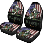 Set of 2 US Army Skulls car seat covers