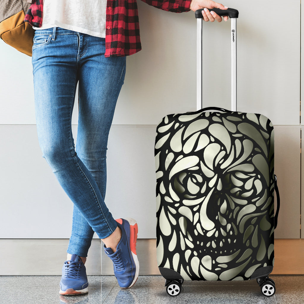 Awesome skull luggage cover