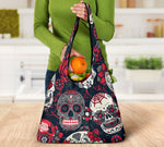 Set of 3pcs Sugar skull Day of the dead grocery bags
