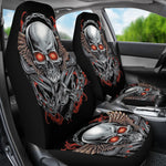 Set 2 pcs Gothic skull car seat covers