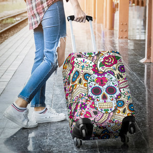 Sugar skull Luggage Cover - Suitcase cover