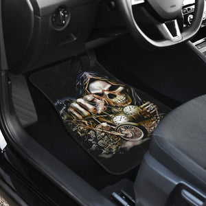 Set of 4 pcs motorcycle skull car mats