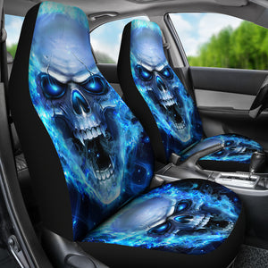 Set of 2 - Skull Car Seat Covers | Universal Fit