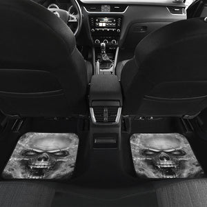 Set of 4 pcs flaming skull car mat