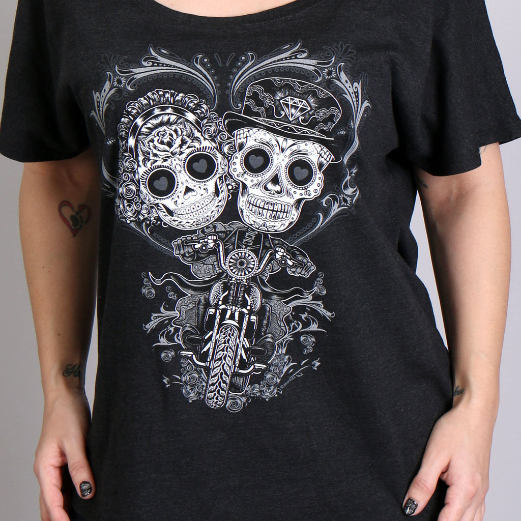 Sugar skull couple - Tshirt - Tanktop