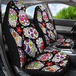 Sugar Skull Car Seat Covers, car seat cover, seat cover for car