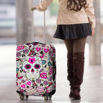 Skull Luggage Cover, travel accessory, luggage cover, travel gift, travel bag, luggage