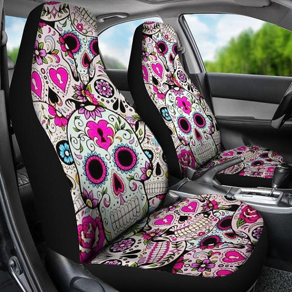 Party Skull Car Seat Covers, car seat cover, seat cover for car
