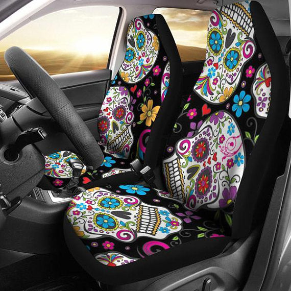 Skulls Car Seat Covers, car seat cover, seat cover for car, car seat cover girl