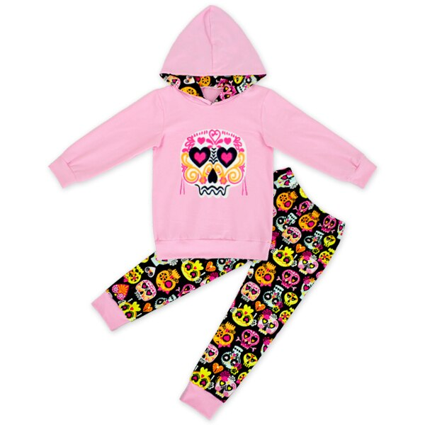 Kids Fall clothes kids long sleeve outfits baby girls hoodie clothing girls skull