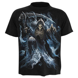 oufisun cotton20% 80%polyester 3d printed t shirts men funny summer camisetas hombre verano 2018 skull men's t-Shirt