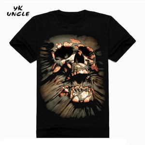 Hip Hop T shirt Men Tshirt T-shirt 3D Sickle Skulls Motorcycle Shackle