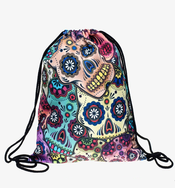 Mexican skull 3D printing mini Backpack women fashion