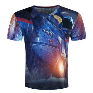 Men short sleeve T shirt 3d t-shirt casual breathable t-shirt plus-size tshirt homme New design