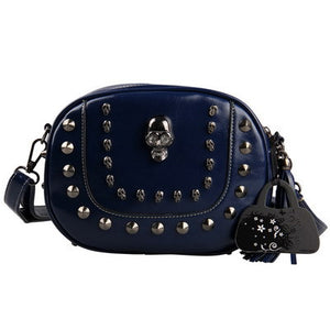 Women Small Messenger Bags Skull Women Handbags Vintage Rivet Crossbody Bags Tassel Purse