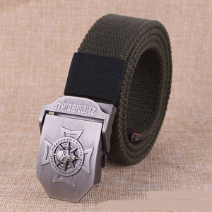 Canvas belt Skull Cross metal buckle  military belt Army tactical belts