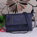 Fashion Black Rock Skull Bag Women Messenger Bags Designer Handbag Clutch Purse